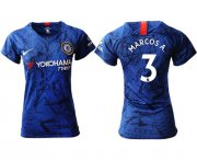 Wholesale Cheap Women's Chelsea #3 Marcos A. Home Soccer Club Jersey