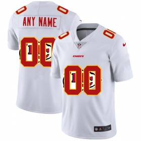 Wholesale Cheap Kansas City Chiefs Custom White Men\'s Nike Team Logo Dual Overlap Limited NFL Jersey