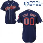 Wholesale Cheap Indians Personalized Authentic Blue MLB Jersey (S-3XL)