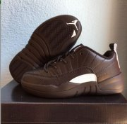 Wholesale Cheap Kids Air Jordan 12(XII) Retro Shoes Mocha/Tweed