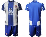 Wholesale Cheap Espanyol Blank Home Soccer Club Jersey