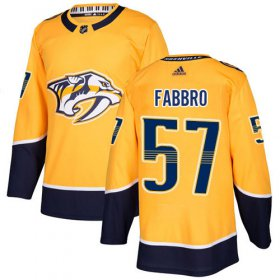 Wholesale Cheap Adidas Predators #57 Dante Fabbro Yellow Home Authentic Stitched NHL Jersey