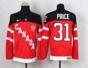 Wholesale Cheap Olympic CA. #31 Carey Price Red 100th Anniversary Stitched NHL Jersey