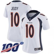 Wholesale Cheap Nike Broncos #10 Jerry Jeudy White Women's Stitched NFL 100th Season Vapor Untouchable Limited Jersey