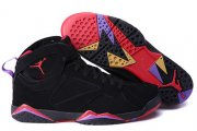 Wholesale Cheap Air Jordan 7 Raptors Size 14 15 16 Black/True Red-Purple