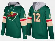 Wholesale Cheap Wild #12 Eric Staal Green Name And Number Hoodie