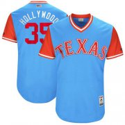 "Wholesale Cheap Rangers #35 Cole Hamels Light Blue ""Hollywood"" Players Weekend Authentic Stitched MLB Jersey"