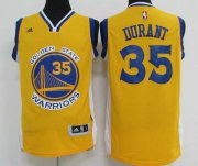 Wholesale Cheap Men's Golden State Warriors #35 Kevin Durant Yellow Revolution 30 Swingman Basketball Jersey