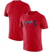 Wholesale Cheap Cleveland Indians Nike MLB Practice T-Shirt Red