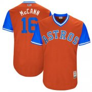 "Wholesale Cheap Astros #16 Brian McCann Orange ""McCann"" Players Weekend Authentic Stitched MLB Jersey"