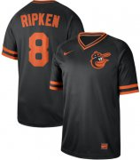 Wholesale Cheap Nike Orioles #8 Cal Ripken Black Authentic Cooperstown Collection Stitched MLB Jersey