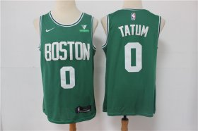Wholesale Cheap Men\'s Boston Celtics #0 Jayson Tatum Green 2021 Nike Swingman Stitched NBA Jersey With NEW Sponsor Logo