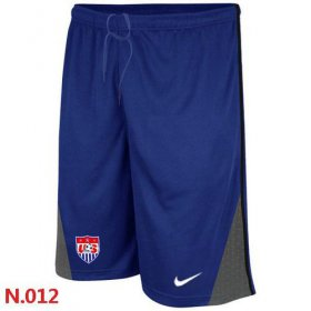 Wholesale Cheap Nike USA 2014 World Soccer Performance Shorts Blue