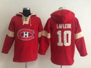 Wholesale Cheap Montreal Canadiens #10 Guy Lafleur Red Pullover NHL Hoodie