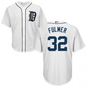 Wholesale Cheap Tigers #32 Michael Fulmer White Cool Base Stitched Youth MLB Jersey
