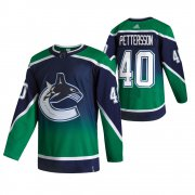Wholesale Cheap Vancouver Canucks #40 Elias Pettersson Green Men's Adidas 2020-21 Reverse Retro Alternate NHL Jersey