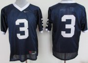 Wholesale Cheap Penn State Nittany Lions #3 Navy Blue Jersey