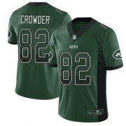 Wholesale Cheap Nike Jets #82 Jamison Crowder Green Team Color Men's Stitched NFL Limited Rush Drift Fashion Jersey