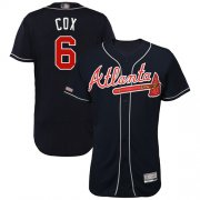 Wholesale Cheap Braves #6 Bobby Cox Navy Blue Flexbase Authentic Collection Stitched MLB Jersey