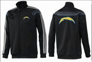 Wholesale Cheap NFL Los Angeles Chargers Team Logo Jacket Black