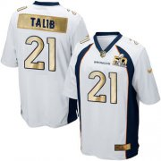 Wholesale Cheap Nike Broncos #21 Aqib Talib White Men's Stitched NFL Game Super Bowl 50 Collection Jersey