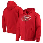 Wholesale Cheap San Francisco 49ers G-III Sports by Carl Banks Primary Logo Full-Zip Hoodie Scarlet