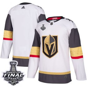 Wholesale Cheap Adidas Golden Knights Blank White Road Authentic 2018 Stanley Cup Final Stitched Youth NHL Jersey
