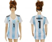 Wholesale Cheap Women's Argentina #1 Romero Home Soccer Country Jersey