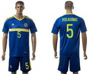 Wholesale Cheap Bosnia Herzegovina #5 Kolasinac Home Soccer Country Jersey