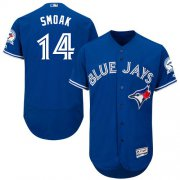 Wholesale Cheap Blue Jays #14 Justin Smoak Blue Flexbase Authentic Collection Stitched MLB Jersey