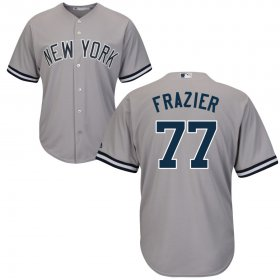 Wholesale Cheap New York Yankees #77 Clint Frazier Majestic Cool Base Jersey Gray