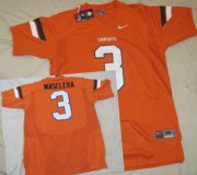 Wholesale Cheap Oklahoma State Cowboys #3 Isaac Maselera Orange Jersey