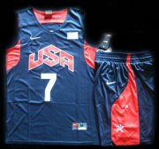 Wholesale Cheap 2012 Olympic USA Team #7 Russell Westbrook Blue Basketball Jerseys & Shorts Suit