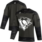 Wholesale Cheap Pittsburgh Penguins Adidas 2019 Veterans Day Authentic Practice NHL Jersey Camo
