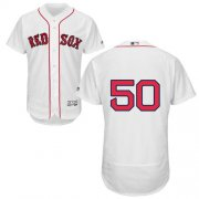 Wholesale Cheap Red Sox #50 Mookie Betts White Flexbase Authentic Collection Stitched MLB Jersey
