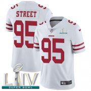 Wholesale Cheap Nike 49ers #95 Kentavius Street White Super Bowl LIV 2020 Youth Stitched NFL Vapor Untouchable Limited Jersey