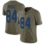 Wholesale Cheap Nike Colts #84 Jack Doyle Olive Men's Stitched NFL Limited 2017 Salute To Service Jersey