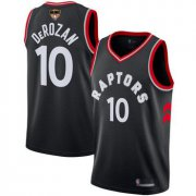 Wholesale Cheap Raptors #10 DeMar DeRozan Black Statement Edition 2019 Finals Bound Basketball Swingman Jersey