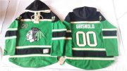 Wholesale Cheap Blackhawks #00 Clark Griswold Green St. Patrick's Day McNary Lace Hoodie Stitched NHL Jersey