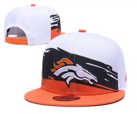 Wholesale Cheap Broncos Team Logo Orange White Adjustable Hat