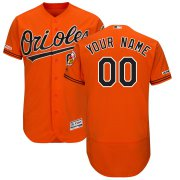 Wholesale Cheap Baltimore Orioles Majestic Alternate Flex Base Authentic Collection Custom Jersey Orange
