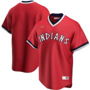 Wholesale Cheap Cleveland Indians Nike Road Cooperstown Collection Team MLB Jersey Red