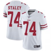 Wholesale Cheap Nike 49ers #74 Joe Staley White Youth Stitched NFL Vapor Untouchable Limited Jersey