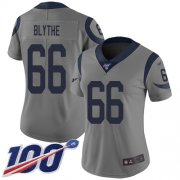 Wholesale Cheap Nike Rams #66 Austin Blythe Gray Women's Stitched NFL Limited Inverted Legend 100th Season Jersey