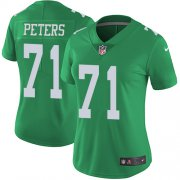 Wholesale Cheap Nike Eagles #71 Jason Peters Green Women's Stitched NFL Limited Rush Jersey