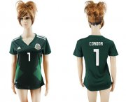 Wholesale Cheap Women's Mexico #1 Corona Home Soccer Country Jersey