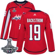 Wholesale Cheap Adidas Capitals #19 Nicklas Backstrom Red Home Authentic Stanley Cup Final Champions Women's Stitched NHL Jersey