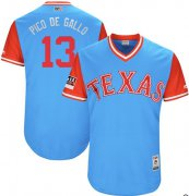 "Wholesale Cheap Rangers #13 Joey Gallo Light Blue ""Pico de Gallo"" Players Weekend Authentic Stitched MLB Jersey"