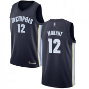 Cheap Youth Grizzlies #12 Ja Morant Navy Blue Youth Basketball Swingman Icon Edition Jersey