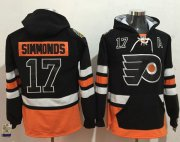 Wholesale Cheap Flyers #17 Wayne Simmonds Black Name & Number Pullover NHL Hoodie